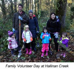 Family Volunteer Day at Hallinan Creek
