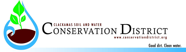 Clackamas Soil and Water Conservation District. www.conservationdistrict.org. Good dirt. Clean water.