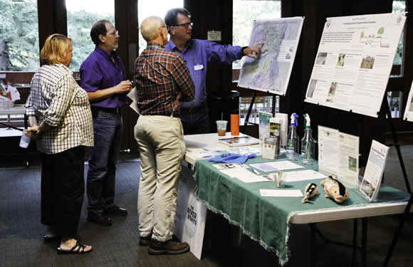 Just one of the many informational displays at the event