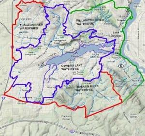 Oswego Lake Watershed Map, Lake Oswego Oregon. Adopted June 23, 2010