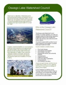Oswego Lake Watershed Council Fact Sheet